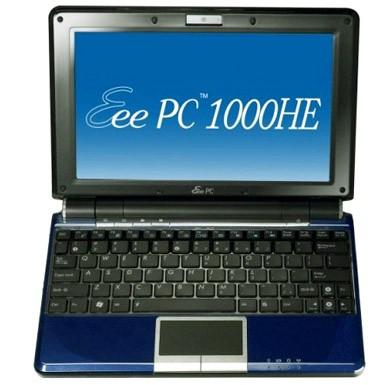 Asus Eee PC 1000HE – 9,5 часов автономной работы