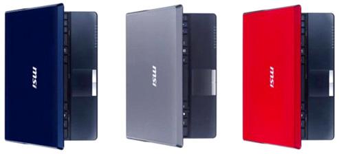 MSI Wind U123 в трех вариантах