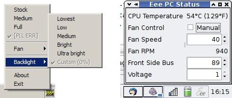 Eeectl – увеличиваем яркость экрана Asus Eee PC