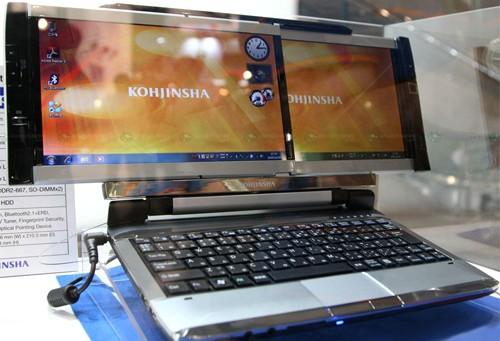 Нетбук Kohjinsha с двумя дисплеями, подробности и видео