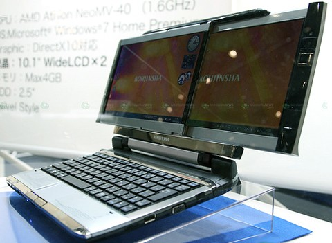 Концепт нетбука с двумя экранами