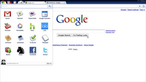 Демонстрация Google Chrome OS
