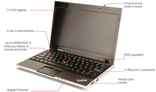 Подробности о бизнес нетбуке Lenovo Thinkpad x100e