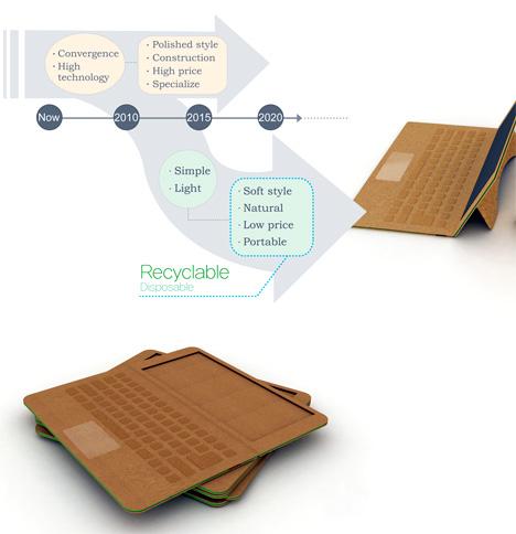 Концепт картонного нетбука