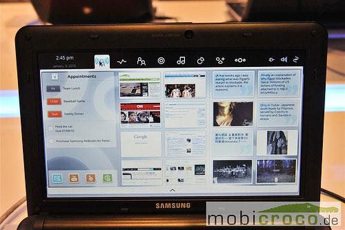 Нетбук Samsung N127 под управлением ОС Moblin