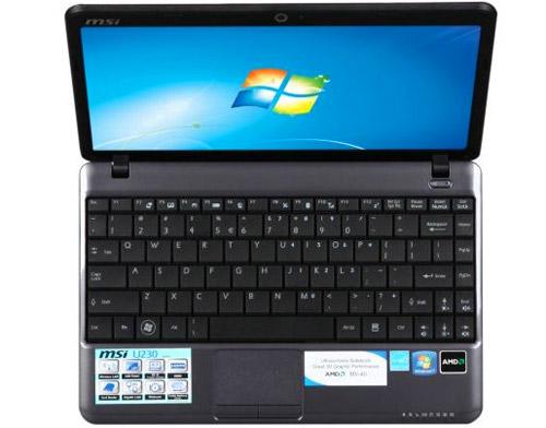 ноутбук msi u230