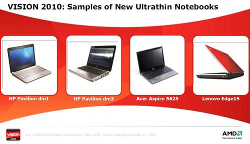 AMD Nile – новая платформа для тонких ноутбуков