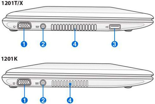 ASUS Eee PC 1201K и Eee PC 1201X – два новых нетбука