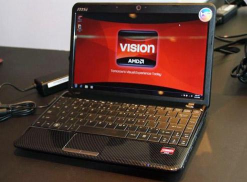 Тонкий ноутбук MSI Wind U250 на AMD Nile