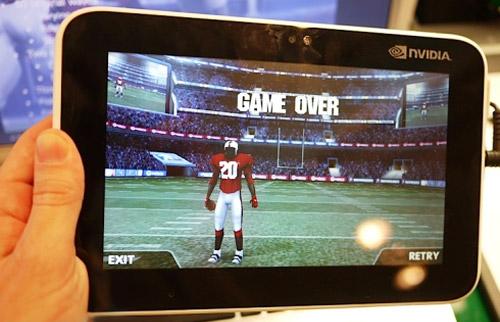 Демонстрация планшета на платформе NVIDIA Tegra 2