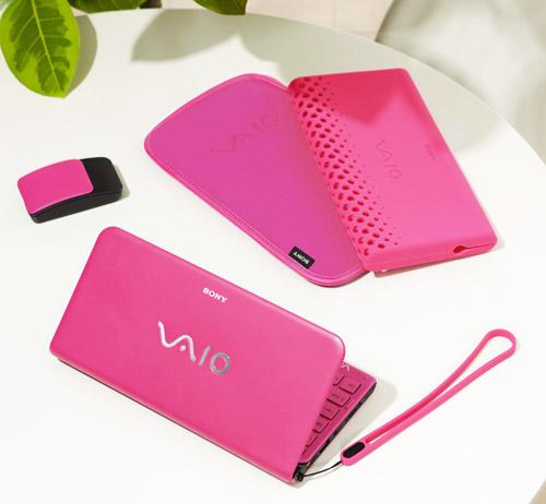 розовый ноутбук sony vaio p