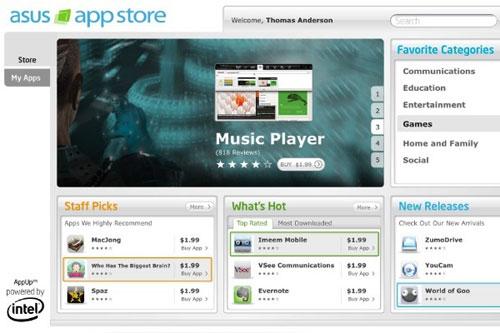 AppStore для нетбуков от Asus