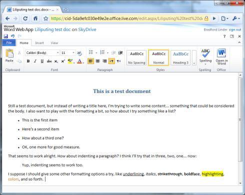 Онлайн MS Office