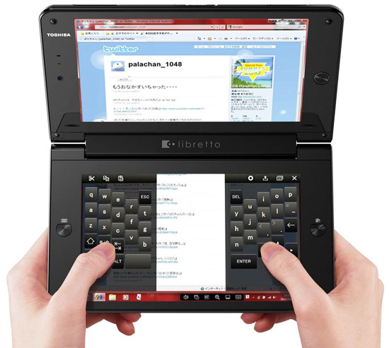toshiba libretto w100 ноутбук с двумя экранами