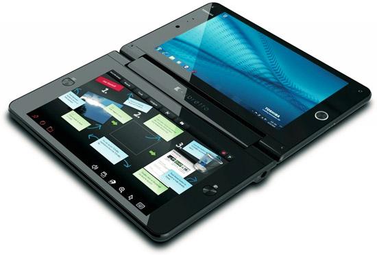 Toshiba Libretto W100 – тонкий ноутбук с двумя экранами