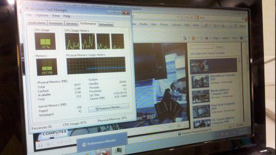 Первые тесты производительности нетбука с Atom N550