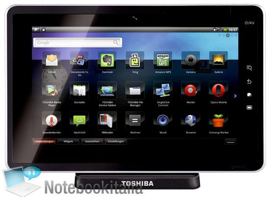 планшетный компьютер Toshiba Folio 100
