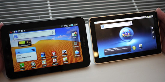 Сравнение Samsung Galaxy Tab и ViewSonic ViewPad 7