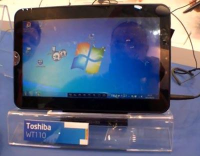 Планшетный компьютер Toshiba WT110 на выставке Computex 2011
