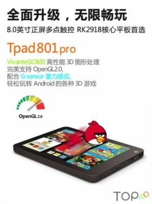 Китайский планшет TOP Tpad801pro за 125 долларов (3500 руб.)